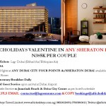 VALENTINE IN ANY SHERATON DUBAI