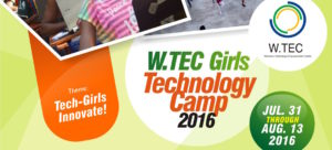 W-TEC Girls Camp Flyer