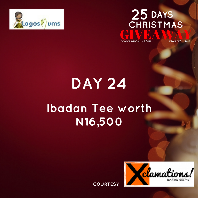Day 23 - Lagosmums Christmas Giveaway
