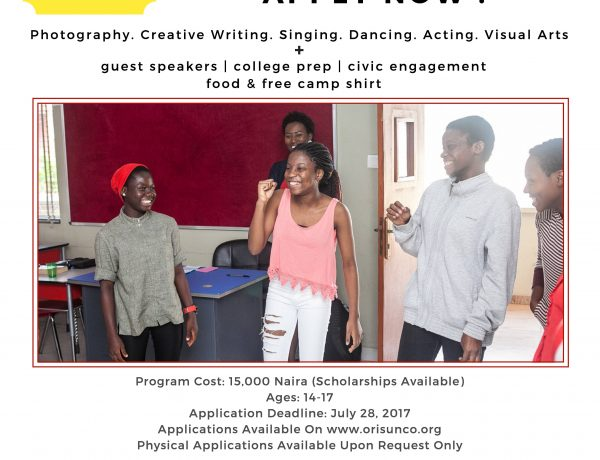 Orisun Collective's Summer Institute For The Creative Arts