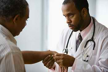 Doctor and patient / Malaria