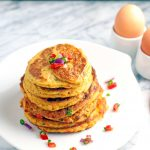yam and egg pancakes