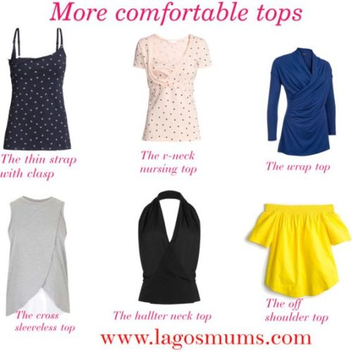 Tops for breastfeeding mums