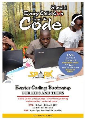 Competitive Skills For Your Kids At Spark I.T. 2017 Easter Coding Bootcamps For Kids & Teens