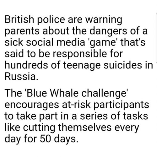 British police warn about Blue Whale