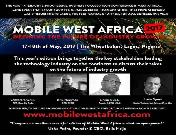 Mobile West Africa 2017 (7th Edition) Holds 17th & 18th May At The Wheatbaker