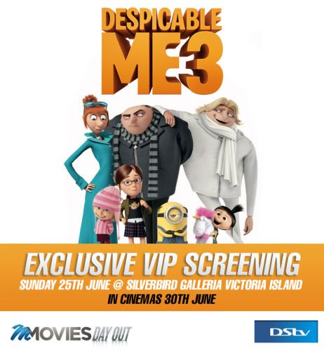 The adventure of Gru continues… Be a part of the pre-screening of Despicable Me 3 on the 25th of June, 2017.
