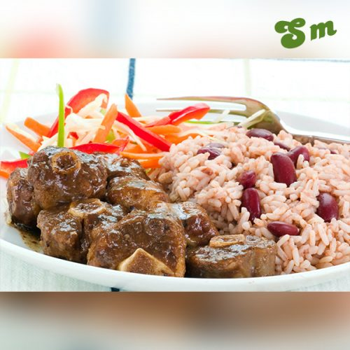 recipe oxtail curry with rice and peas  lagosmums