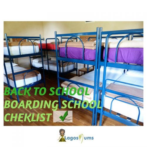 Back To School Boarding School Checklist