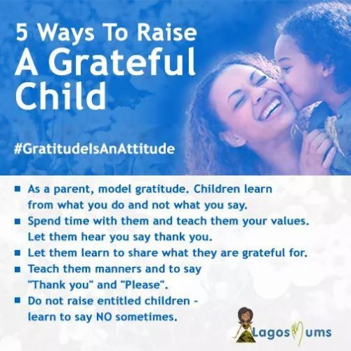 Raise a grateful child