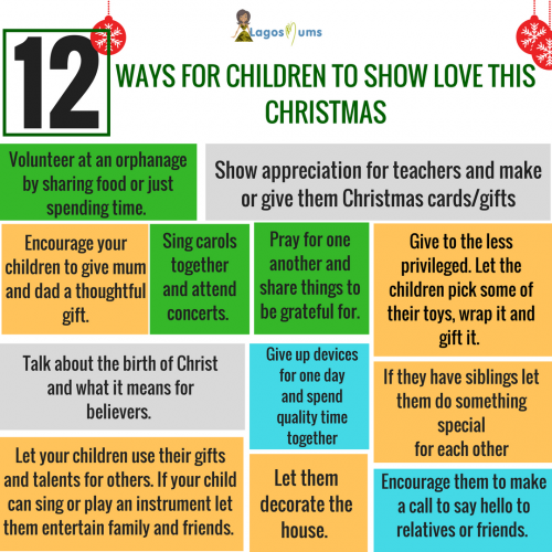 12 ways for children to show love this christmas