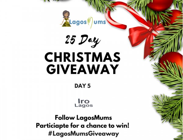 Iro Lagos LagosMums 25 Day Christmas Giveaway 2017