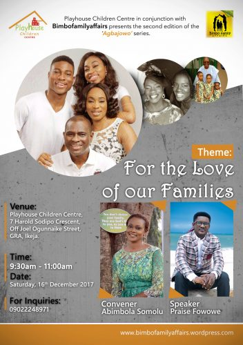 for the love of our families