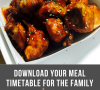 meal timetable for the family