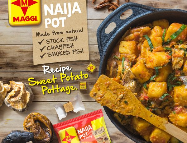 Sweet potato pottage maggi naija pot