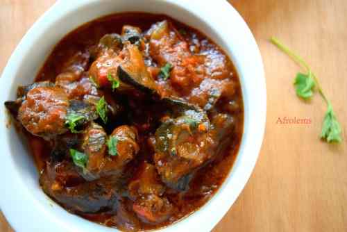 Nigerian spicy snail stew