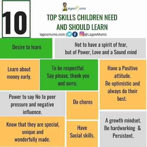 top skills children need