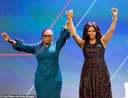 Michelle Obama and Oprah Winfrey