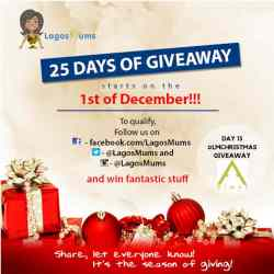 Day 13 of The LagosMums 2018 25 Day Christmas Giveaway