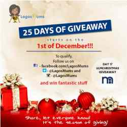 Day 14 of The LagosMums 2018 25 Day Christmas Giveaway