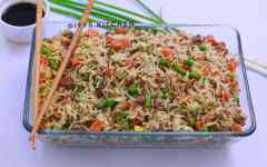 Minced beef fried rice