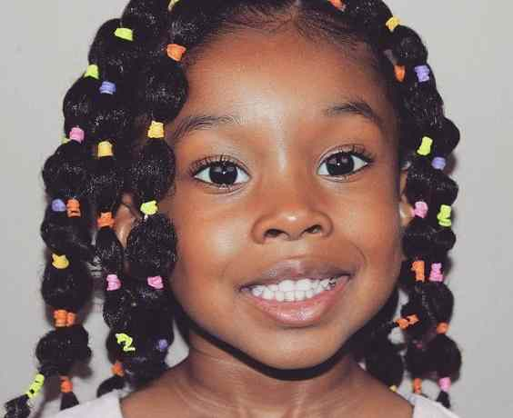 Black girl hairstyles Bubble Twists
