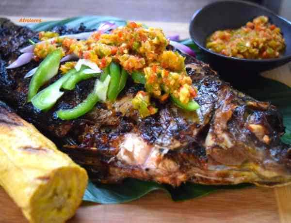 Nigerian barbeque fish